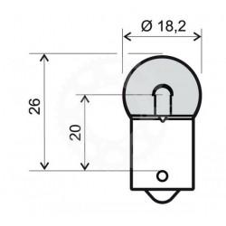 Žárovka BA15S RW5 12V 5W