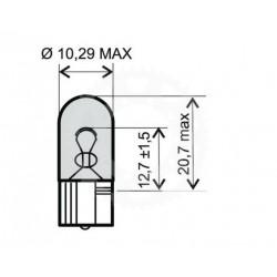 Žárovka RW5 12V 3W W3W T10
