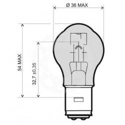 Žárovka BA20D S2 12V 35/35W