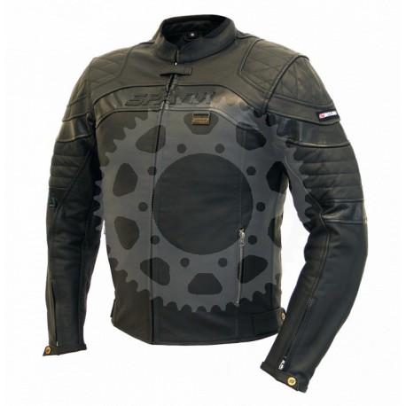 Pánská kožená moto bunda Spark Dark