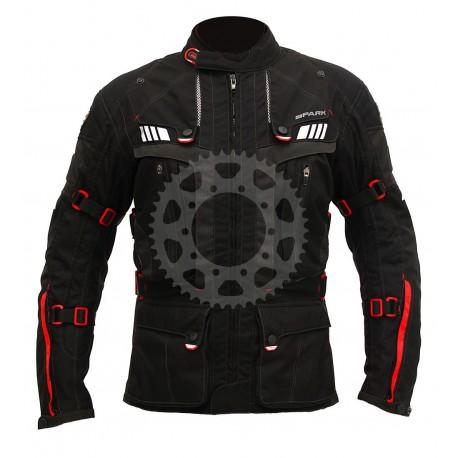 Pánská textilní moto bunda Spark Expedition, černá