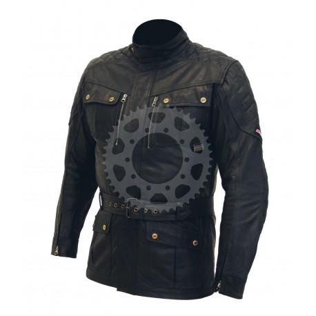 Pánská kožená moto bunda Spark Romp černá