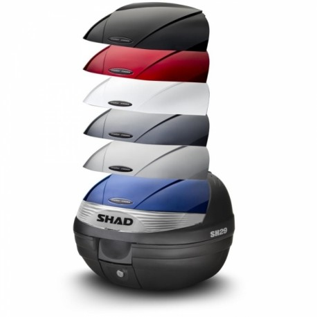 Vrchní kufr s barevným krytem SH29 stříbrná
