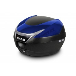 Vrchní kufr s barevným krytem SH34 modrá