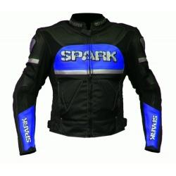 Pánská kožená moto bunda Spark Colour
