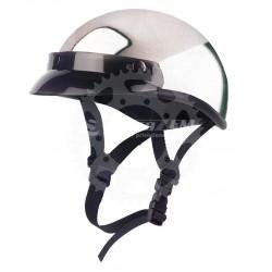 Chopper helma Braincap chrom