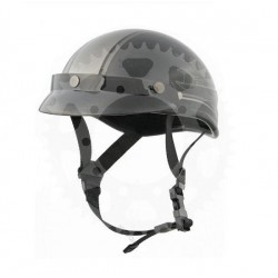 Chopper helma Rusty Pistons skull shine black