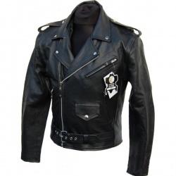 Pánská moto bunda Spark Křivák, černá lesklá
