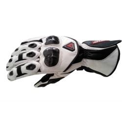 Kožené moto rukavice Spark Elite bílé