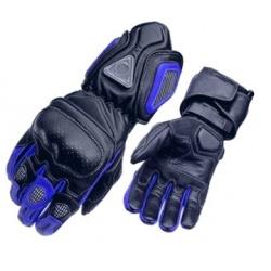 Kožené moto rukavice Spark Metal modré