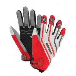Textilní moto rukavice Spark Cross červené
