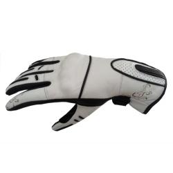 Dámské kožené moto rukavice Spark Nella bílé
