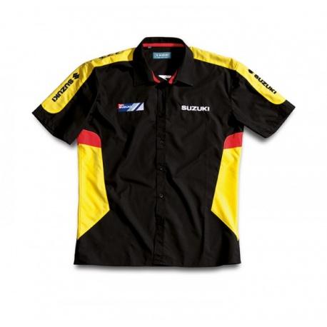 "39923123cb6 Pánská košile Suzuki ""Team"" žlutá - Motoshop Rozeta"