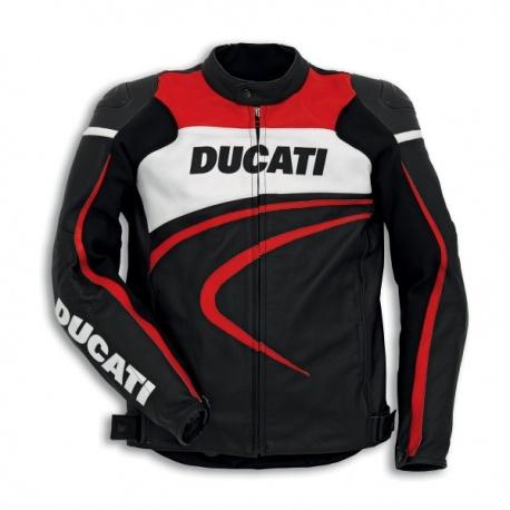 Pánská kožená moto bunda Ducati Sport C2 - Motoshop Rozeta 2bdd469882