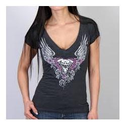 Dámské tričko Hot Leathers Mirror Wings