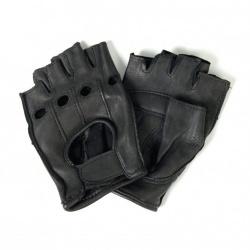 Kožené moto rukavice bezprsté