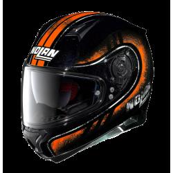 Moto helma Nolan N87 Fulgor N-Com 23 Metal Black 23
