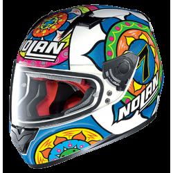 Moto helma Nolan N64 Gemini Replica Davie Sepang Metal White 66
