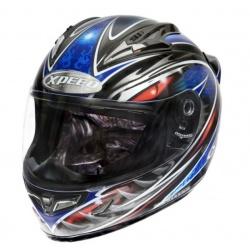 Moto helma Xpeed XF-706 Phoenix, modrá