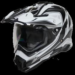 Moto helma Cyber UX-33 černo-bílá