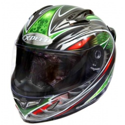 Moto helma Xpeed XF-706 Phoenix, zelená