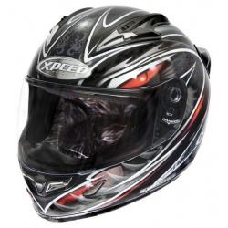 Moto helma Xpeed XF-706 Phoenix, stříbrná