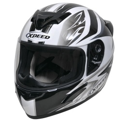 Moto helma Xpeed XP-509, stříbrná