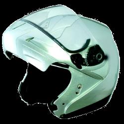 Moto helma Cyber U-216 stříbrná