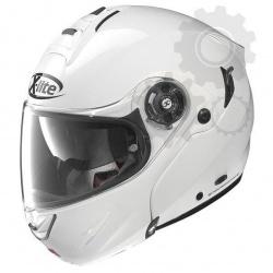 Moto helma X-Lite X-1003 Elegance N-Com Metal White 3