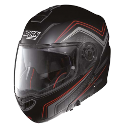Moto helma Nolan N104 Absolute Como N-Com Flat Black 47