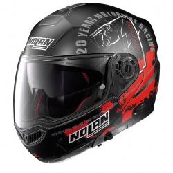 Moto helma N104 Absolute Iconic Replica N-Com C. Chea Flat Black 58