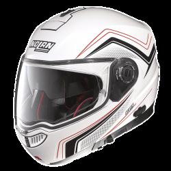 Moto helma Nolan N104 Absolute Como N-Com Metal White 48