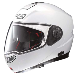 Moto helma Nolan N104 Absolute Classic N-Com Metal White 5
