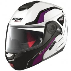 Moto helma N90-2 Straton N-Com Metal White 19