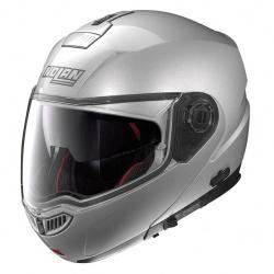 Moto helma Nolan N104 Absolute Classic N-Com Platinum Silver 1
