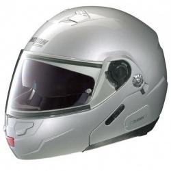 Moto helma N91 Evo Classic N-Com Platinum Silver 1