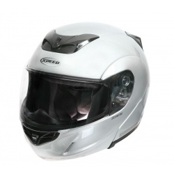 Moto helma Xpeed X-Tech, stříbrná