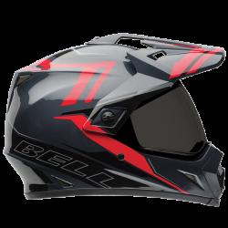 Moto helma BELL MX-9 Adventure Barricade Red