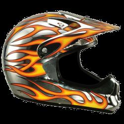 Moto helma Cyber UX-22 chrom plameny