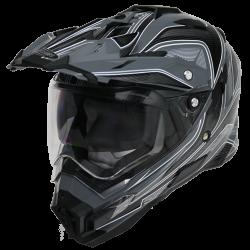 Moto helma Cyber UX-33 šedo černá
