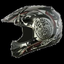 Moto helma Cyber UX-25 stříbrná