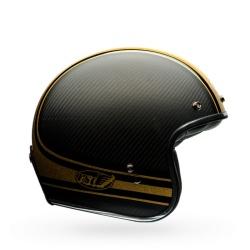 Moto helma Bell Custom 500 Carbon RSD Bomb Black Gold