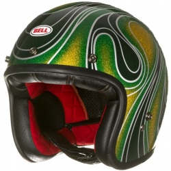 Moto helma BELL Custom 500 Chemical Candy Mean Green