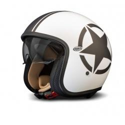 Moto helma Premier Vintage Star, bílá