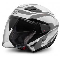 Moto helma Premier Bliss bílo-stříbrná