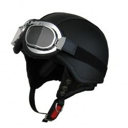 Moto helma Cyber U-62G kožená s brýlemi