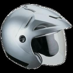Moto helma Cyber U-12 stříbrná