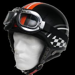 Moto helma Cyber U-62G Racing flag