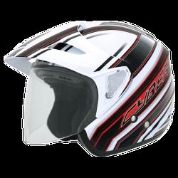 Moto helma Cyber U-388 bílo červená
