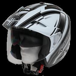 Moto helma Cyber U-388 bílo černá